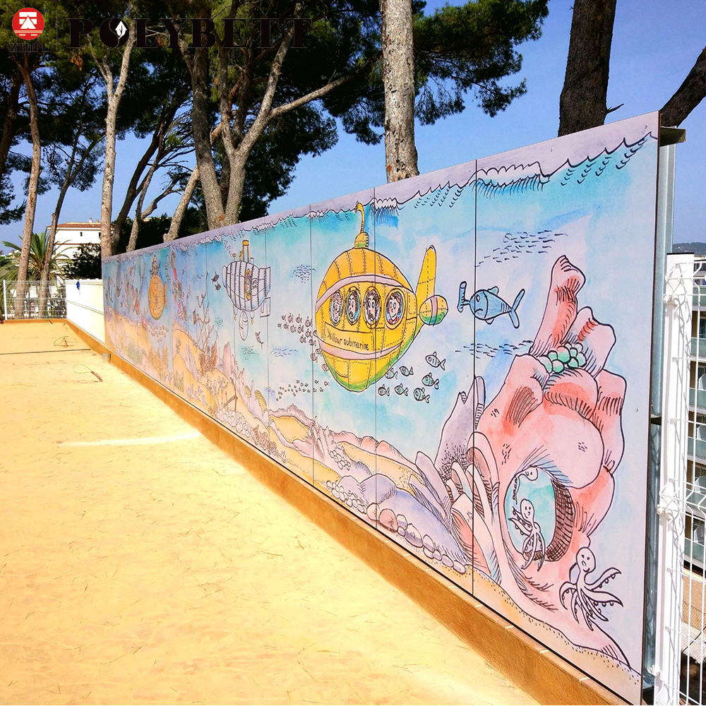 New Material for Playground Usage Digital Printing Panels with HPL Compact Laminate Board