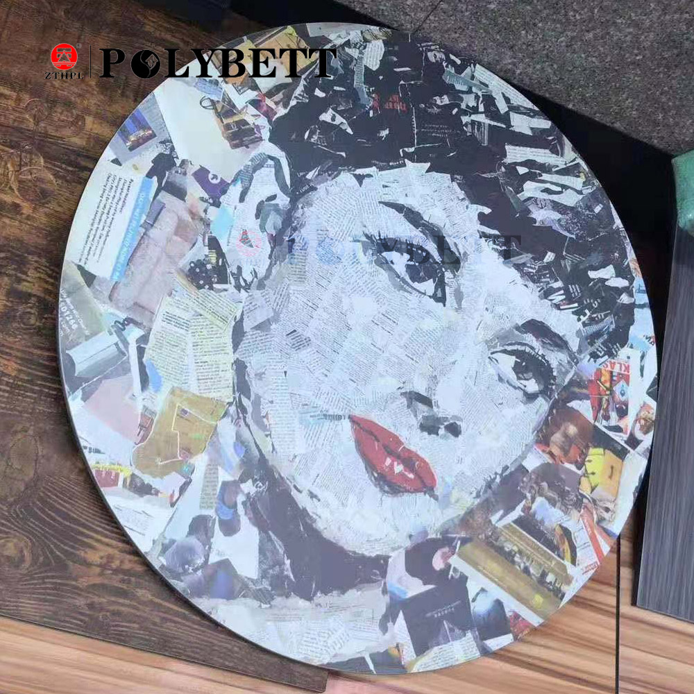 Customized Fashion Style Interior Digital Print HPL 3D Art Laminate Sheets Decorative HPL
